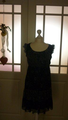 Street One Sukienka z falbanami czarny-szary