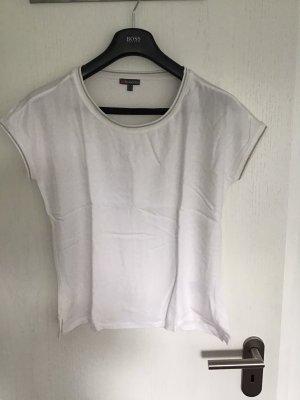 Street One Shirt mit silbernem Rand am Kragen und Ärmeln