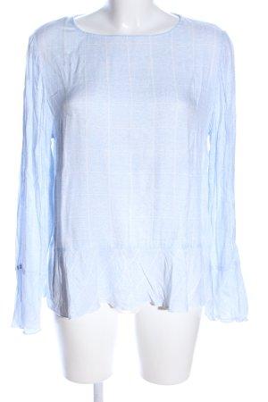 Street One Camicia a tunica blu-bianco motivo a quadri stile casual