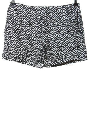 Street One Shorts schwarz-weiß grafisches Muster Casual-Look
