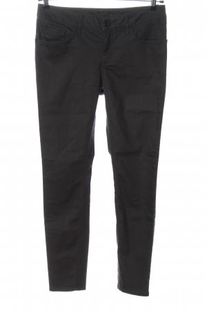 Street One Slim Jeans black striped pattern casual look