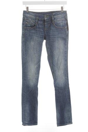 Street One Slim Jeans blau Washed-Optik