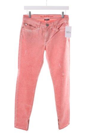 Street One Slim Jeans lachs Used-Optik