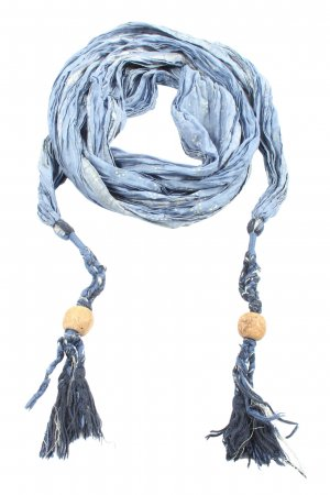 Street One Summer Scarf blue-white abstract pattern extravagant style