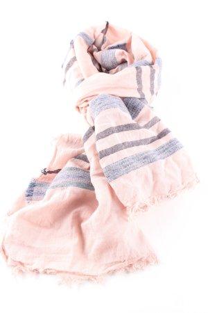 Street One Sommerschal pink-blau Streifenmuster Casual-Look