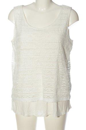 Street One Koronkowa bluzka biały W stylu casual