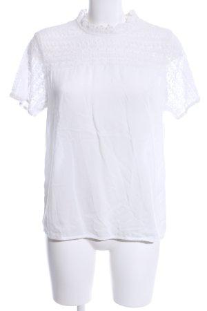 Street One Blouse en dentelle blanc motif graphique style d'affaires