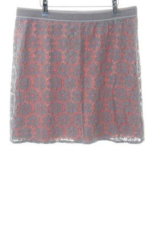 Street One Falda de encaje gris claro-rojo look casual