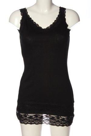 Street One Top di merletto nero stile casual
