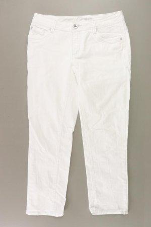 Street One Jeansy z prostymi nogawkami w kolorze białej wełny Bawełna