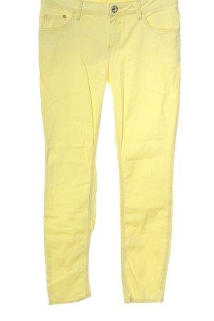 Street One Jeansy z prostymi nogawkami bladożółty W stylu casual