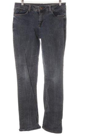 Street One Jeansy z prostymi nogawkami ciemnoniebieski Melanżowy W stylu casual