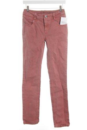 Street One Jeansy z prostymi nogawkami czerwony W stylu casual