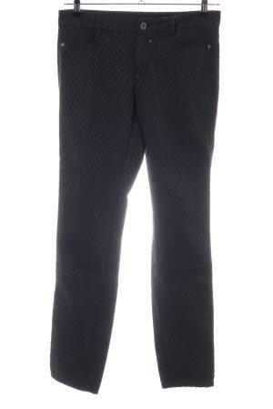 Street One Pantalon strech noir imprimé allover style décontracté