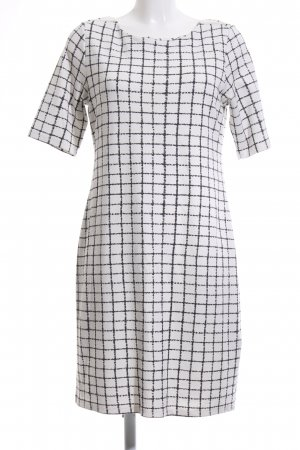 Street One Stretch Dress white-black check pattern casual look