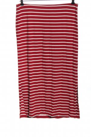 Street One Falda stretch rojo-blanco estampado a rayas look casual