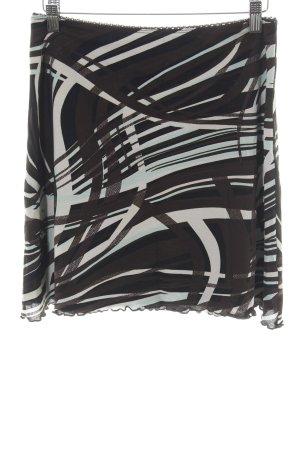 Street One Stretchrock schwarz-wollweiß abstraktes Muster Casual-Look