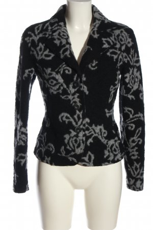 Street One Knitted Blazer black-light grey allover print casual look