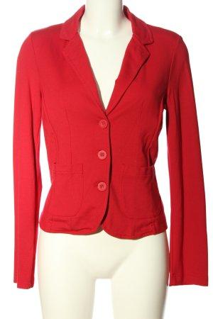 Street One Blazer tejido rojo look casual