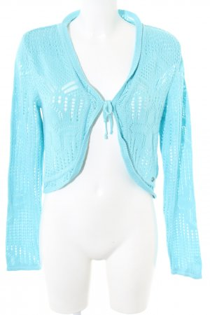 Street One Knitted Bolero turquoise casual look