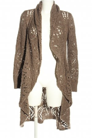 Street One Cardigan brown cable stitch casual look