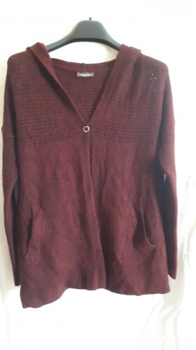 Street One Strickjacke mit Kapuze bordeaux