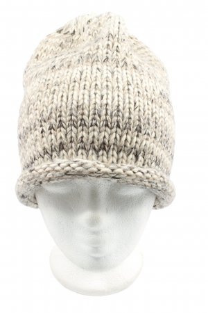 Street One Knitted Hat natural white flecked casual look