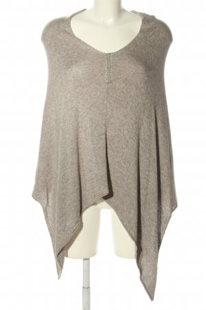 Street One Knitted Poncho light grey flecked casual look