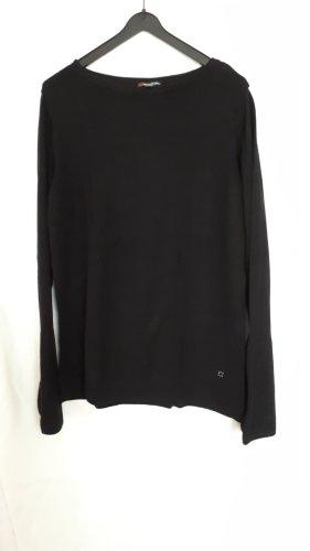 Street One Sweter bez rękawów z cienkiej dzianiny czarny-srebrny
