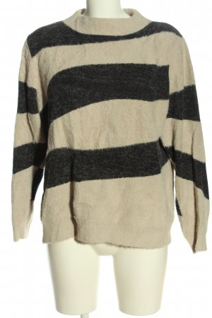 Street One Knitted Sweater natural white-black striped pattern casual look