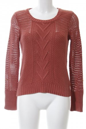 Street One Strickpullover rot Zopfmuster Casual-Look