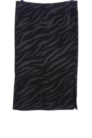 Street One Gebreide rok zwart-lichtgrijs abstract patroon casual uitstraling