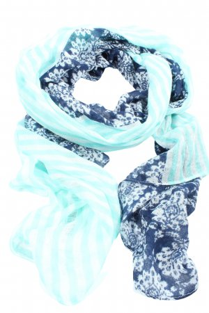 Street One Knitted Scarf blue-white allover print casual look