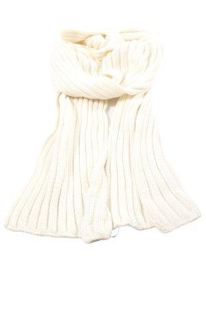 Street One Bufanda de punto blanco puro look casual