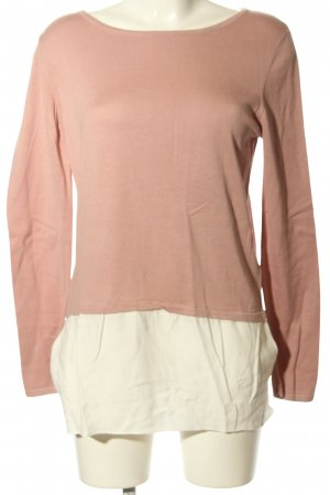 Street One Knitted Jumper pink-white casual look
