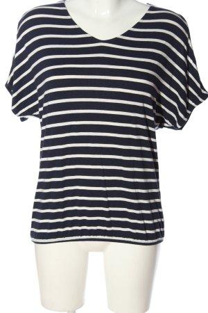 Street One Strickshirt blau-weiß Streifenmuster Casual-Look