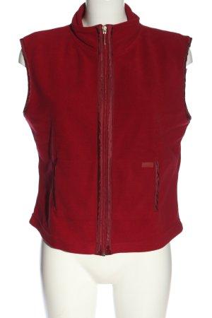 Street One Gilet tricoté rouge style décontracté