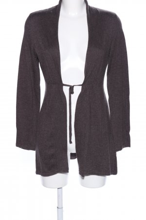 Street One Knitted Wrap Cardigan brown flecked casual look