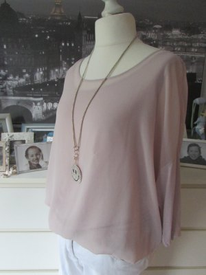 Street One * Süßes Double-layer Chiffon Top Bluse * altrose * 42/44