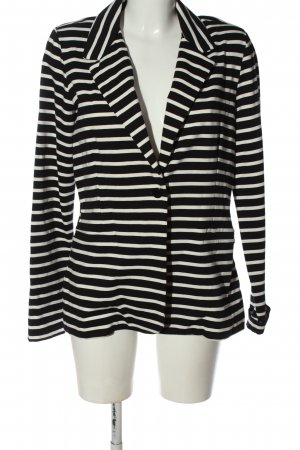 Street One Sweat Blazer black-white striped pattern elegant