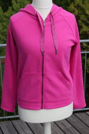 Street One Chaqueta estilo camisa rosa tejido mezclado