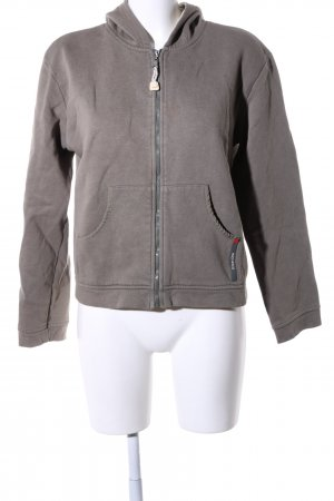 Street One Sweatjacke braun meliert Casual-Look