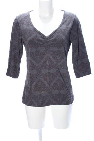 Street One Sweatshirt hellgrau-braun Mustermix Casual-Look