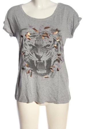 Street One T-Shirt hellgrau meliert Casual-Look