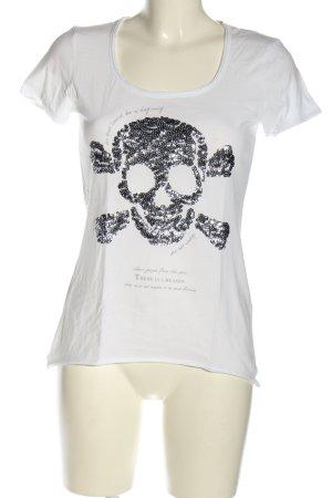 Street One T-Shirt weiß-schwarz Casual-Look