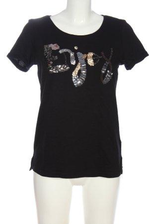 Street One T-Shirt schwarz Motivdruck Casual-Look