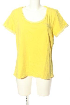 Street One T-Shirt blassgelb Schriftzug gedruckt Casual-Look