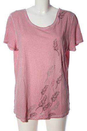 Street One T-Shirt pink Motivdruck Casual-Look