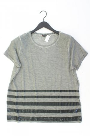 Street One T-Shirt Größe 44 Kurzarm mit Glitzer grau aus Baumwolle