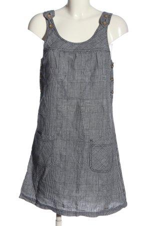 Street One Trägerkleid schwarz-weiß Karomuster Casual-Look